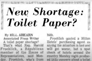 Toilet paper shortage article