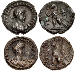 Egyptian tetradrachms of Macrianus and Quietus