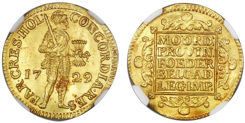 1729 United Netherlands Gold Ducat