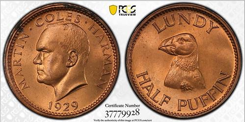 1929 Lundy Half Puffin