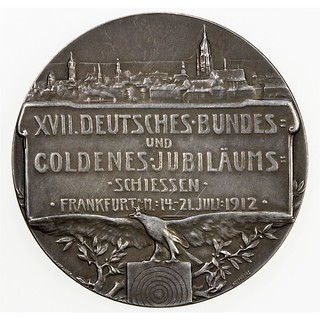 1912 German Shooting Festival Medal obverse