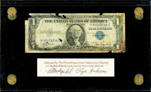 Andrea Doria Salvaged Silver Certificate