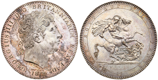 1818 George III Silver Crown