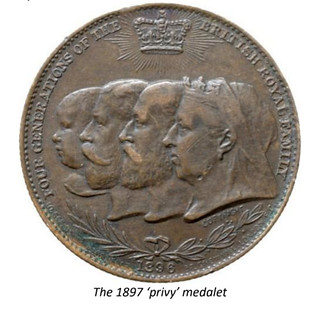 Withers 1897 privy medalet with caption