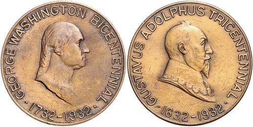 1932 Washington - Gustav Adolf II medal