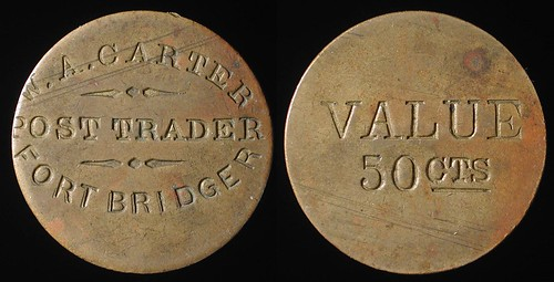 50 cent Fort Bridger Post Trader Token