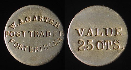 25 cent Fort Bridger Post Trader Token