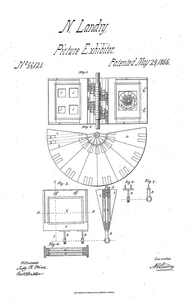 US55121 Norbert Landry coin holder patent drawing