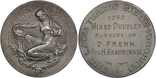 Hilde Sperling Wimbledon silver Award Medal