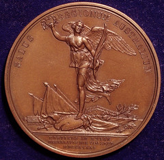 Nathaniel Greene mahogany finish medal reverse