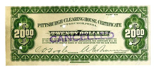 1933 Pittsburgh Clearing House Certificate