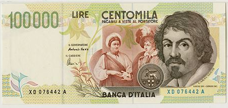 1994 Italy 100,000 Lire Replacement Note