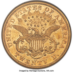 1871-CC Double Eagle reverse