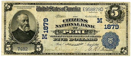 1902 Citizens National Bank of Peru $5