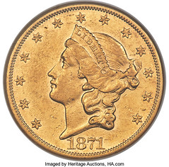 1871-CC Double Eagle obverse