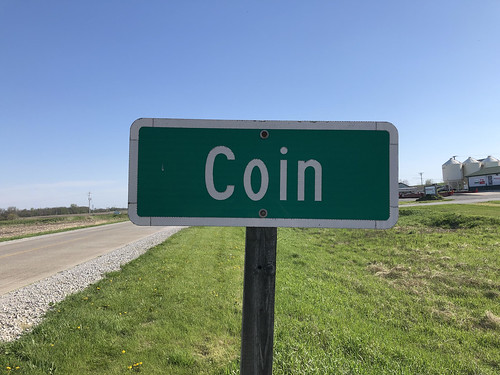 Coin, Iowa sign