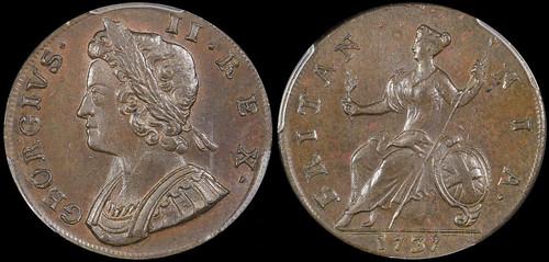 1737 George II halfpenny