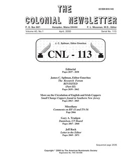 Colonial Newsletter n113 cover