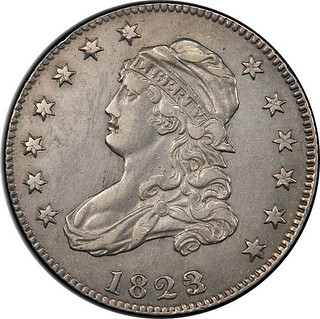 1823 over 2 quarter obverse