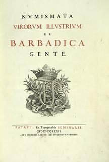 Numismata Virorum Illustrium ex Barbadica Gente