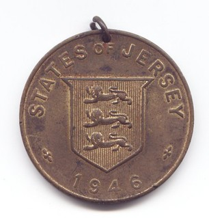 Jersey Liberation Medal obverse