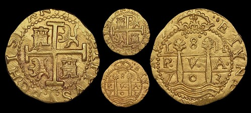 Sedwick sale 27 lot10 Peru gold cob 8 escudos