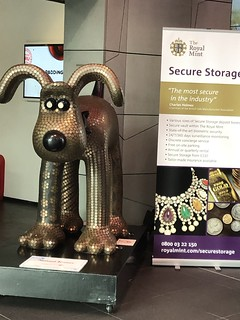 Royal Mint Gromit coin sculpture