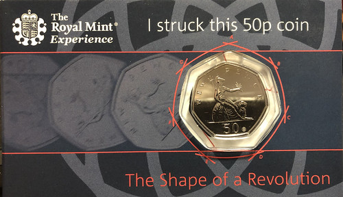 50 pence coin Dennis Forgue struck at the Royal Mint