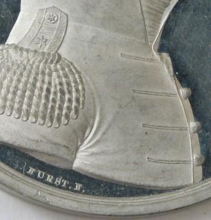 Alexander Macomb medal white metal obverse detail