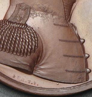 Alexander Macomb medal bronzed copper restrike obverse detail