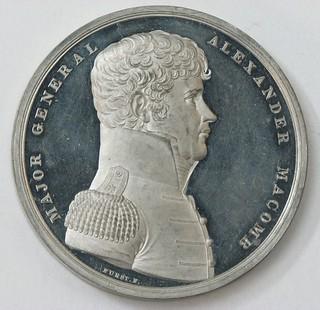 Alexander Macomb medal white metal obverse