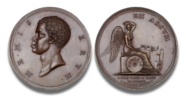 1792 Denmark end of slave trade medal