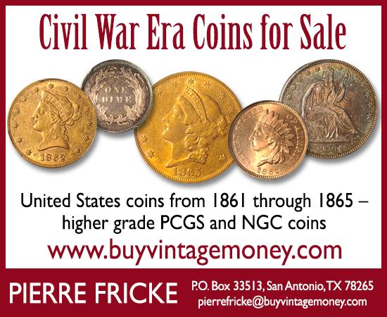 Fricke E-Sylum ad01 Civil War Coins