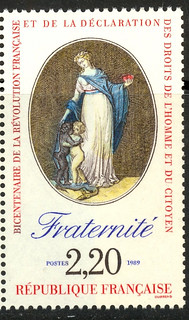 France French Revolution Bicentennial stamp Fraternite