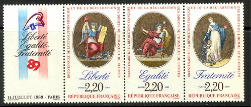 France French Revolution Bicentennial stamps