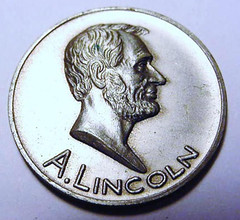 1933 Lincoln Exhibit Medal obverse