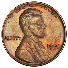1955 Doubled Die Lincoln Cent obverse