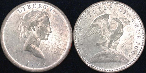 1792 Eagle on Globe pattern quarter