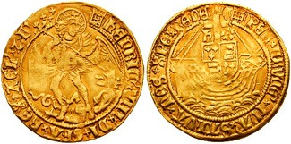 Henry VIII angel gold coin