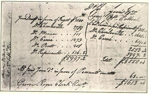 1778 letter from Pollock to George Roger Clark