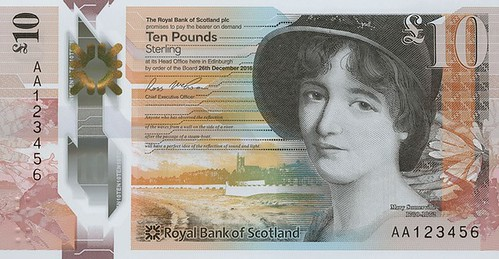 Bank of Scotland 10 Pound banknote Mary Somerville