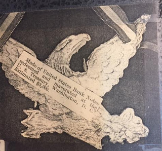 Macerated currency eagle back
