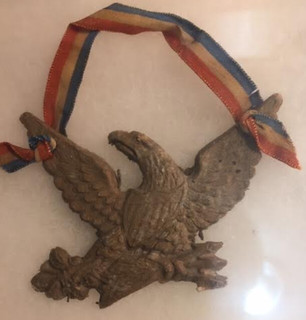Macerated currency eagle front