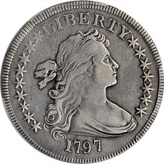 1797 Draped Bust Silver Dollar obverse
