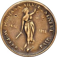 Montana Silver Statue Token obvrse