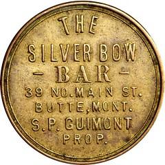 Silver Bow Bar Token obverse