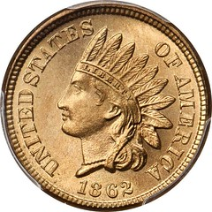 1862 Indian Cent obverse