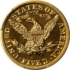 Proof 1903 Liberty Head Half Eagle reverse