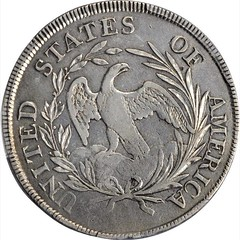 1797 Draped Bust Silver Dollar reverse