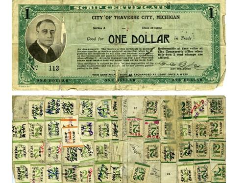 Traverse City Michigan One Dollar note